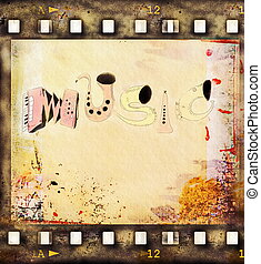 music and film strip background