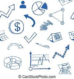 doodle, negócio, fundo