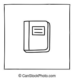 Doodle notebook icon