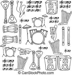 doodle, objeto, música