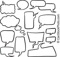 Doodle of bubble speech style
