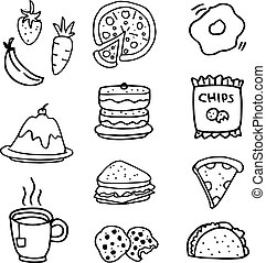 Doodle of food and drink hand draw