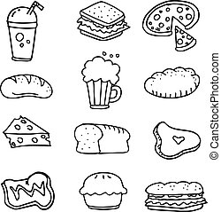 Doodle of food hand draw collection