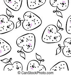 Doodle of fruit vector art