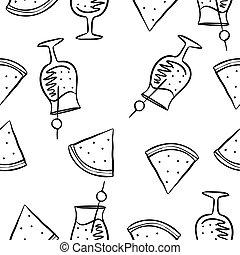 Doodle of juice drink hand draw