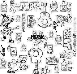 Doodle of music symbols