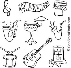 Doodle of music theme hand draw