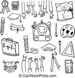 Doodle of school collection stock vector art