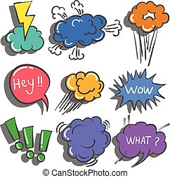 Doodle of speech bubble colorful