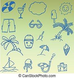 Doodle of summer set