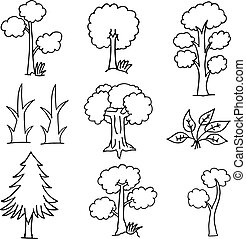 Doodle of tree nature hand draw