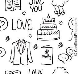 Doodle of wedding style illustration