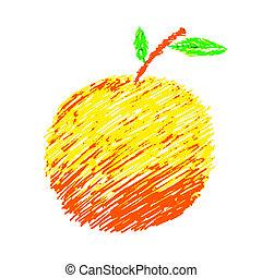 Doodle Orange