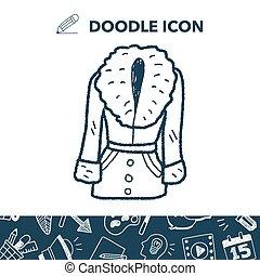 doodle, płaszcz