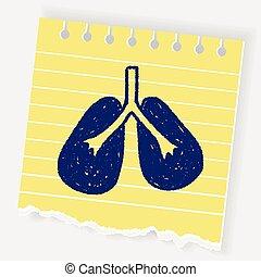doodle, płuco