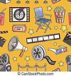Doodle pattern cinema