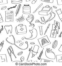 Doodle pattern Medical