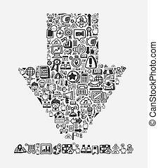 doodle pattern -  web download