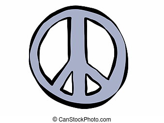 doodle peace and love