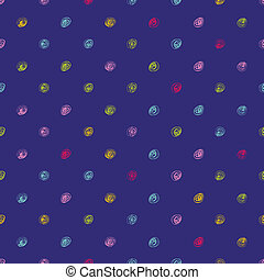 doodle polka dot pattern - Hand drawn background for design...