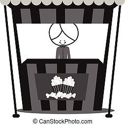 Doodle Popcorn Seller