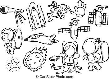 doodle, przestrzeń