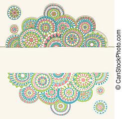 doodle, quadro, com, copyspace