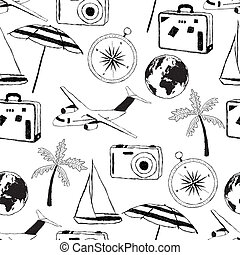 doodle, reizen, model