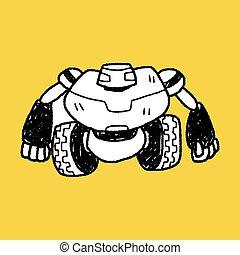 doodle, robot