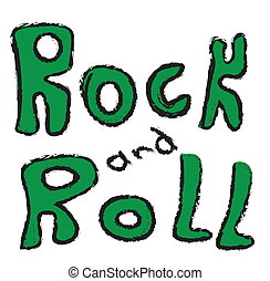 doodle rock and roll music word
