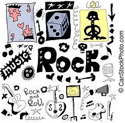 Doodle rock music