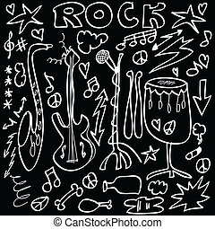 Doodle rock musical instruments