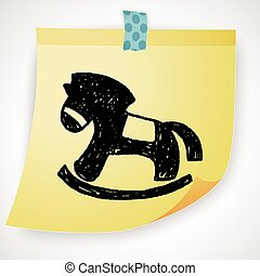 Doodle Rocking horse