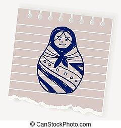 Doodle Russian Dolls
