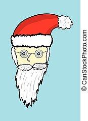 Doodle Santa Claus Face