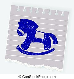 doodle, schommelpaard
