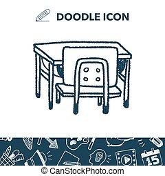 doodle, schoolbank