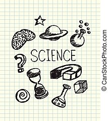 Doodle science learning art