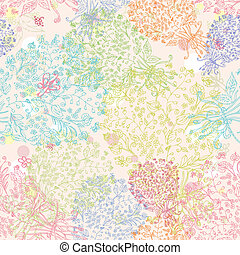 doodle seamless floral background