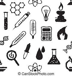 doodle seamless laboratory pattern
