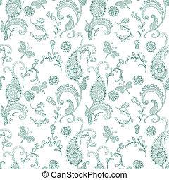 Doodle seamless paisley pattern