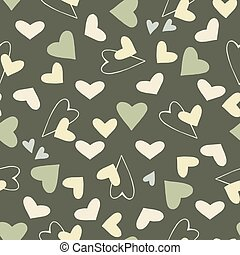 Doodle seamless pattern of hearts. Great for Valentine's Day, Mother's Day, Easter, wedding, scrapbook, gift wrapping paper, textiles