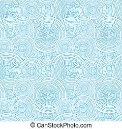 doodle, seamless, textura, água, padrão experiência, círculo
