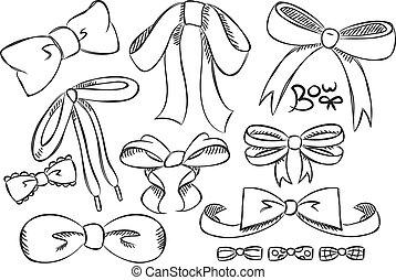 doodle, set, boog