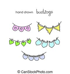 Doodle set - bunting