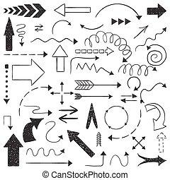 Doodle set of arrows.