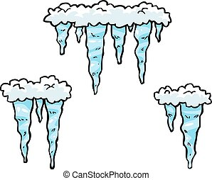 Doodle set of icicles