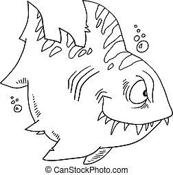 Doodle Shark Illustration Vector