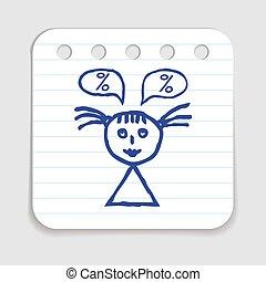 Doodle Shopping Icon