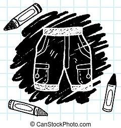 doodle, shortinho, arqueje